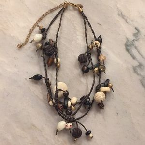 CHICO'S Corded Earth Toned Necklace